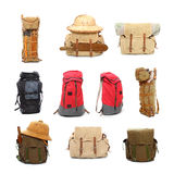 Travel bags and backpacks. Stock Image