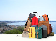 Travel bags stock photography