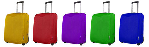 Travel bags - colorful Stock Images