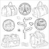Travel bags different Royalty Free Stock Images