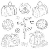 Travel bags different Royalty Free Stock Image