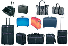 Travel bags and suitcases collection Stock Images