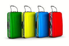 Travel bags on white background Stock Images