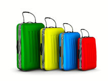 Travel bags on white background Royalty Free Stock Images
