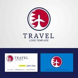 Travel Bahrain Creative Circle flag Logo and Business card desig. N - This Vector EPS 10 illustration is best for print media, web design, application design vector illustration