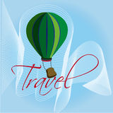 Travel ballon. Over blue  background vector illustration Royalty Free Stock Images