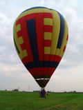 Travel by a balloon Stock Images