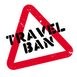 Travel Ban rubber stamp Royalty Free Stock Images