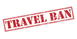 Travel ban stamp. Travel ban red stamp on white background Royalty Free Stock Photography