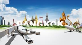 Travel in Bangkok, concept Stock Photos