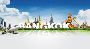 Travel in Bangkok, concept Royalty Free Stock Images