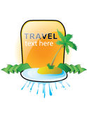 Travel banner. Abstract Travel Banner with palm tree vector illustration