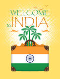 Travel banner of India Stock Photo