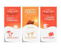 Free Travel Banner Poster Sticker Flyer Ticket Design Stock Photo - 42688950