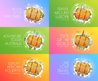 Travel banner set. Royalty Free Stock Images