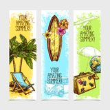 Travel Banner Set Royalty Free Stock Photos