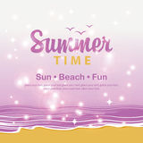 Travel banner summer time Stock Image