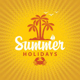 Travel banner summer vacation Stock Images