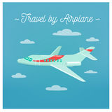 Travel Banner. Tourism Industry. Airplane Travel Stock Photography
