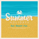 Travel banner word summer holidays Stock Image