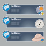 Travel banners Stock Photos