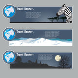 Travel banners Stock Images
