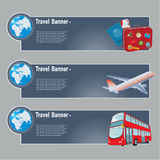 Travel banners Stock Image
