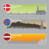 Travel banners Royalty Free Stock Image