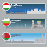 Travel banners Stock Photography