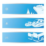 Travel banners Stock Photo