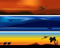 Travel banners, cdr vector Stock Photography