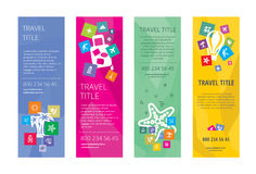 Travel banners concept 2 Stock Photo