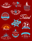 Travel banners and labels Royalty Free Stock Photos