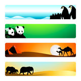 Travel banners   Set 1 Stock Photography