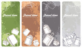 Travel banners set. Set of colorful travel vertical banners Stock Photography