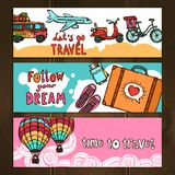 Travel Banners Set Royalty Free Stock Photo