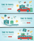 Travel banners. Summer holidays. Travel and tourism concept. Vector Royalty Free Stock Photos