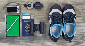 Travel basic accessories Stock Image