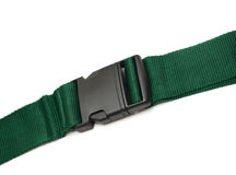 Travel belt. Green travel belt isolated on white Royalty Free Stock Photos