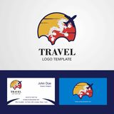 Travel Bhutan Flag Logo and Visiting Card Design. This Vector EPS 10 illustration is best for print media, web design, application design user interface and royalty free illustration