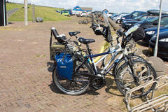 Travel bicycle netherlands. Dams barriers on the North Sea peterson netherlands holland bicycle travel Stock Photography
