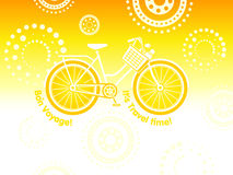 Travel bicycle postcard Royalty Free Stock Image