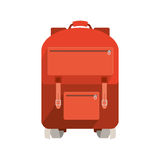 Travel big suitcase with wheels and handle Royalty Free Stock Photo