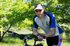Travel by bike Stock Photography