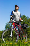 Travel by bike Stock Images