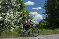 Travel by bike Stock Image