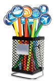 Travel Bin Internet Concept Royalty Free Stock Images