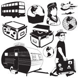 Travel black icons 2 Stock Images