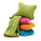 Travel blanket and pillow Royalty Free Stock Images