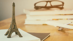 Travel Blogger France paris diary writing royalty free stock photo